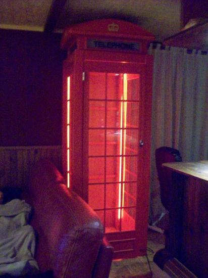 Cabine équipée de néon
