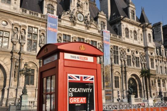 Cabine téléphonique Anglaise campagne great